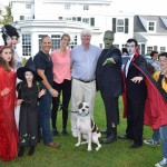 Cast of Bay Street's Frankenstein Follies Séan & Kelly Deneny with Southampton Animal Shelter trainer