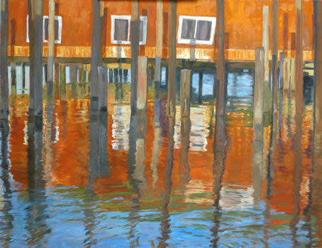 Orange and Blue Reflections (Carolyn Francis)