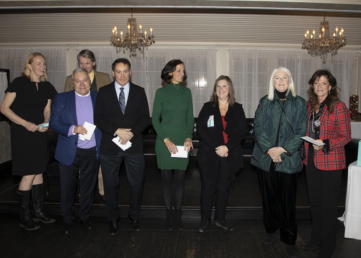 Evelina McDermott, Gene Stilwell, joan Bischoff, Patrick Galway, Laura Mott, Kimberley Terry, Nancy McGann,and Judi Desiderio
