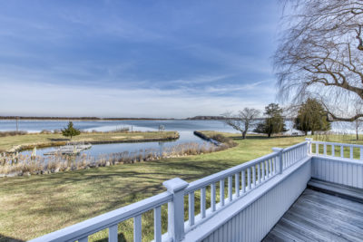7 Lari Lane, Shelter Island - Waterfront View of Boat Basin and North Fork